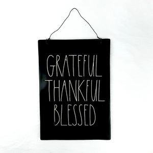 Rae Dunn Greatful Thankful Blessed Wall Plaque
